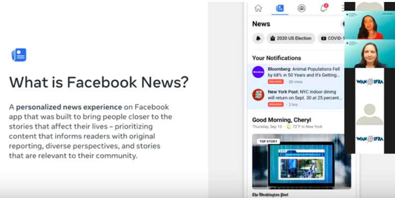 "Facebook News reaches ""significant new audiences"""